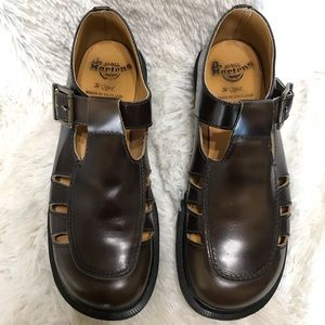 Dr. Martens Brown  T Strap Mary Jane Shoes